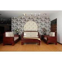 南美酸枝如意沙发实木雕刻明清古典宫廷仿古组合单卖