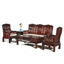 南美酸枝万字王沙发实木雕刻明清古典宫廷仿古组合单卖