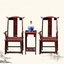 东非酸枝官帽椅实木雕刻明清古典宫廷仿古组合单卖
