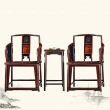 东非酸枝南宫椅实木雕刻明清古典宫廷仿古组合单卖