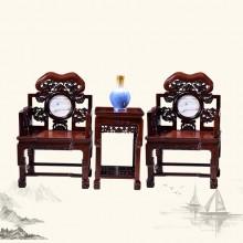 东非酸枝太师椅实木雕刻明清古典宫廷仿古组合单卖