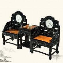 紫光檀太师椅实木雕刻明清古典宫廷仿古组合单卖