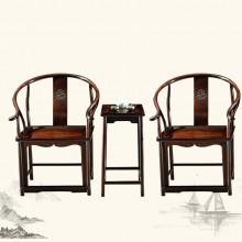 东非酸枝明式圈椅实木雕刻明清古典宫廷仿古组合单卖
