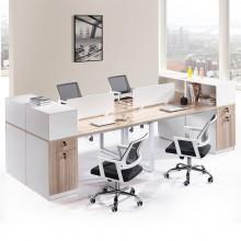 4人位职员办公桌简约现代办公家具8人组合屏风工作位职员桌椅组合2人位
