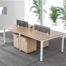 办公家具办公桌现代职员桌 员工位 组合屏风工作电脑桌 2 4 6人位多人