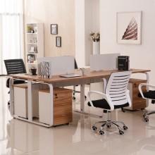 办公家具现代简约四人位办公桌时尚双人位挡板工作位六人位电脑桌职员