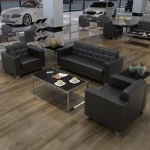 办公沙发茶几组合 4S店接待皮沙发椅 会客区商务沙发  现代简约