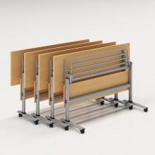 培训桌简约长条桌培训洽谈桌椅组合员工培训折叠办公双人课桌可移动办公桌_