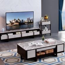 大理石茶几电视柜组合套装现代简约小户型客厅