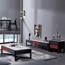 北欧大理石电视柜 茶几简约现代创意伸缩小户型电视机柜