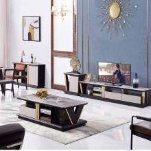 大理石电视柜茶几组合套装简约现代创意伸缩小户型电视机柜