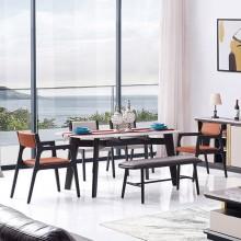现代简约大理石餐桌小户型