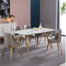 北欧大理石餐桌椅组合现代简约小户型长方形实木餐桌饭桌