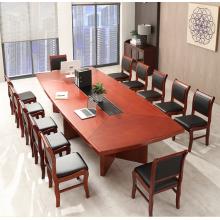 大会议桌简约长桌贴实木皮会议台油漆洽谈桌