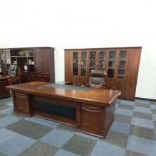 老板桌主管桌办公桌总裁经理桌油漆贴木皮大班台3.2米