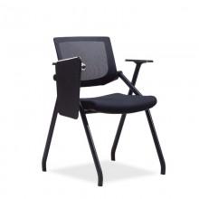 培训椅折叠椅会议椅办公椅学习椅黑色 可带写字板