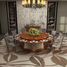 酒店大圆桌,电动圆桌餐桌包房餐桌圆台10-20人