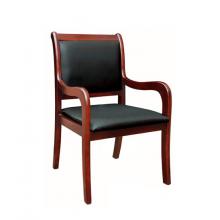 实木会议椅职员皮革培训椅木质办公椅