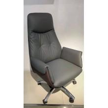 时尚皮艺老板椅 简约办公电脑椅 可升降转椅 灰色大班椅 西皮